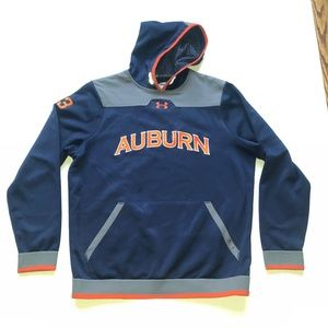 Auburn Tigers Under Armour Pullover Hoodie - Navy